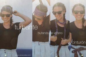 Cinturones Turbantes Bufandas de verano